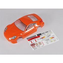 Sport Car Body w/Decal (Orange) - Turnigy TR-V7 1/16 Brushless Drift Car w/Carbon Chassis