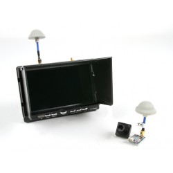 "Quanum FPV 5.8Ghz AV Transmitter, 7"" HD 5.8Ghz Monitor/Diversity Receiver And Camera Bundle Set"