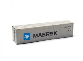 HO Scale 40ft Shipping Container (MAERSK)) side view