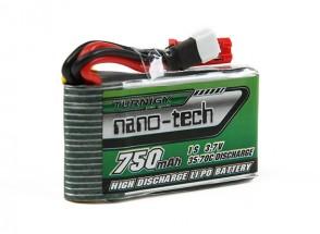 Turnigy nano-tech 750mAh 1S 35-70C Lipo Pack (Walkera V120D02S/QR Infra X/QR W100S)