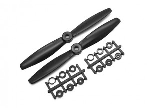 Gemfan Bull Nose ABS 6045 2-Blade Propellers Black (CW/CCW) (2pcs)