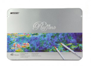 Marco Raffine Water Color Pencils in Tin Carry Box (48pcs)