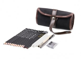 Artists Pencil Sketching and Drawing Set (22pcs)