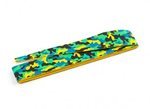 TrackStar Handle Wrap Tape 1100 x 25mm Green Camouflage Pattern