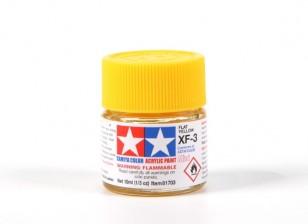 Tamiya XF-3 Flat Yellow Acrylic (10ml)
