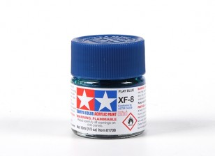 Tamiya XF-8 Flat Blue Acrylic Paint (10ml)