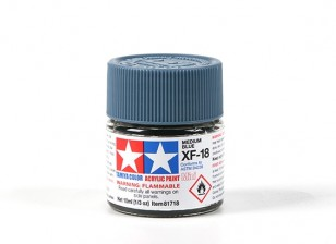 Tamiya XF-18 Flat Medium Blue Acrylic Paint (10ml)