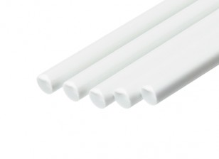 ABS Round Rod 4.0mm x 500mm White (Qty 5)