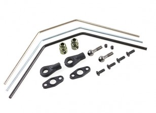 Front Sway Bar Set (silver/blue/black) - Basher SaberTooth 1/8 Scale Truggy / Nitro  Circus MT