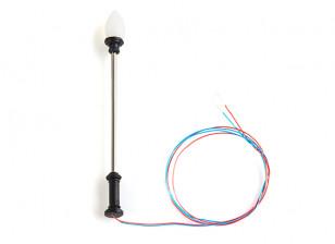 1/100 Scale Working Classic Straight Oval Single Street Lantern 1pc