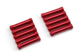 Lightweight Aluminium Round Section Spacer M3x24mm (Red) (10pcs)