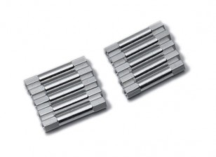 Lightweight Aluminium Round Section Spacer M3x29mm (Silver) (10pcs)