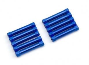 Lightweight Aluminium Round Section Spacer M3x30mm (Blue) (10pcs)