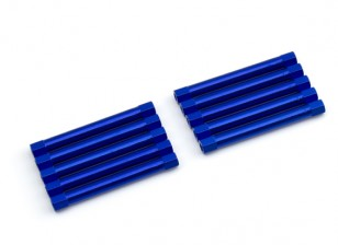 Lightweight Aluminium Round Section Spacer M3x45mm (Blue) (10pcs)