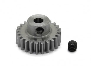 Robinson Racing Steel Pinion Gear 48 Pitch Metric (.6 Module) 24T