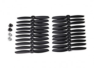 KingKong 4045 2-Blade Propellers Black (CW/CCW) (10 Pairs) w/Self-tightening Prop Adapters