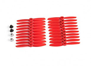 KingKong 4045 2-Blade Propellers Red (CW/CCW) (10 Pairs) w/Self-tightening Prop Adapters