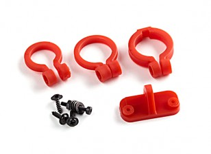 KingKong Universal Camera Lens Adjustable Holder Set (Red)