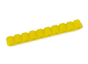 Nylon Spacer 6mm M3 F/F Yellow (10pcs)
