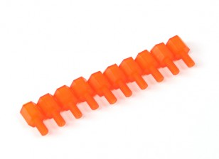 Nylon Spacer 6mm M3 M/F Orange (10pcs)