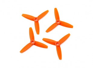 Gemfan Bullnose Polycarbonate 3035 3-Bladed Propeller Orange (CW/CCW) (2 Pairs)