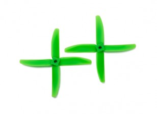 Gemfan Bullnose Polycarbonate 5040 4-Blade Propellers Green (CW/CCW) (1 Pair)