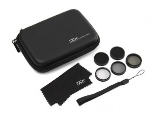 PGY Filter Set with Case (CPL, MCUV, ND4, ND8 and ND16) for DJI Phantom 3/4