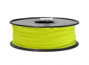 HobbyKing 3D Printer Filament 1.75mm PLA 1KG Spool (Fluorescent Yellow)