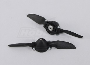 Folding Propeller W/Hub 35mm/3mm 6x6 (2pcs)
