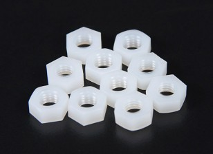 M6 Nylon Nut (10pcs/bag)