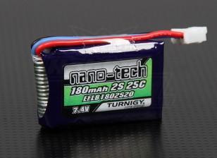 Turnigy nano-tech 180mAh 2S 25C Lipo Pack (E-flite Compatible EFLB1802S20)
