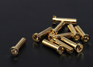 4mm Gold Connectors - Low Profile (10pc)