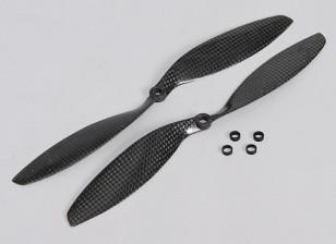 10x3.8 Carbon Fiber Propellers 1pc Standard/1pc RH Rotation