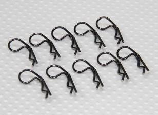 Small-ring 90 Deg Body Clips (Black) (10Pcs)
