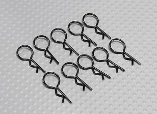 Medium-ring Body Clips (Black) (10Pcs)