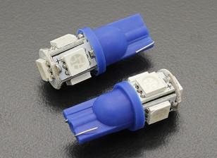 LED Corn Light 12V 1.0W (5 LED) - Blue (2pcs)