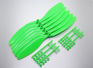 GWS EP Counter Rotating Propeller (RH-1047 254x119mm) Green (6pcs/set)