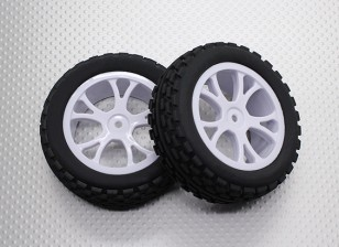 Front Buggy Tyre Set 2sets(Split 5-Spoke)  - 1/10 Quanum Vandal 4WD Racing Buggy (2pcs)