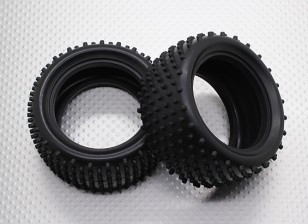 Rear Tires w/Round Tread (2pcs/bag) - 1/10 Quanum Vandal 4WD Racing Buggy
