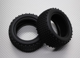 Rear Tires w/Square Tread (2pcs/bag) - 1/10 Quanum Vandal 4WD Racing Buggy