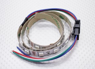 LED Red, Green, Blue (RGB) Strip 50cm w/Flying Lead