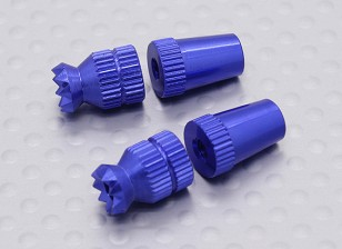 Alloy Anti-Slip TX Control Sticks Short (Futaba TX Blue)