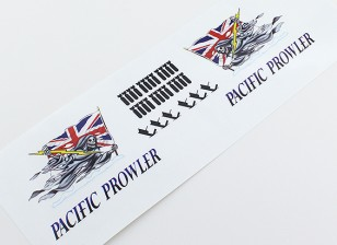 "Nose Art - ""PACIFIC PROWLER"" (Union Jack Flag) L/R Handed Decal"