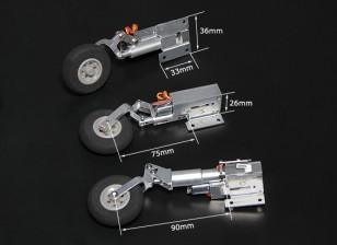 Turnigy Full Metal Servoless Retracts with Oleo Legs (Tricycle, BAE Hawk type)