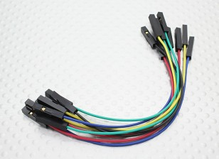 120mm Female to Female Jumper Cable Set (10pc)