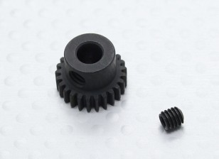 25T/5mm 48 Pitch Hardened Steel Pinion Gear