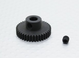 40T/5mm 48 Pitch Hardened Steel Pinion Gear