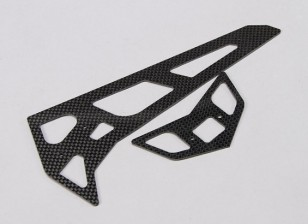 Assault 700 DFC - Carbon Fibre Horizontal/Vertical Tail Fin Set