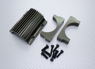Motor Mount and Cooling Fin Set - Nitro Circus Basher 1/8 Scale Monster Truck