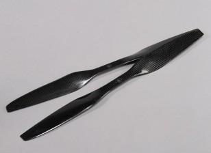 Multirotor Carbon Fiber with DJI Fitting Propeller 15x5.5 Black (CW/CCW) (2pcs)